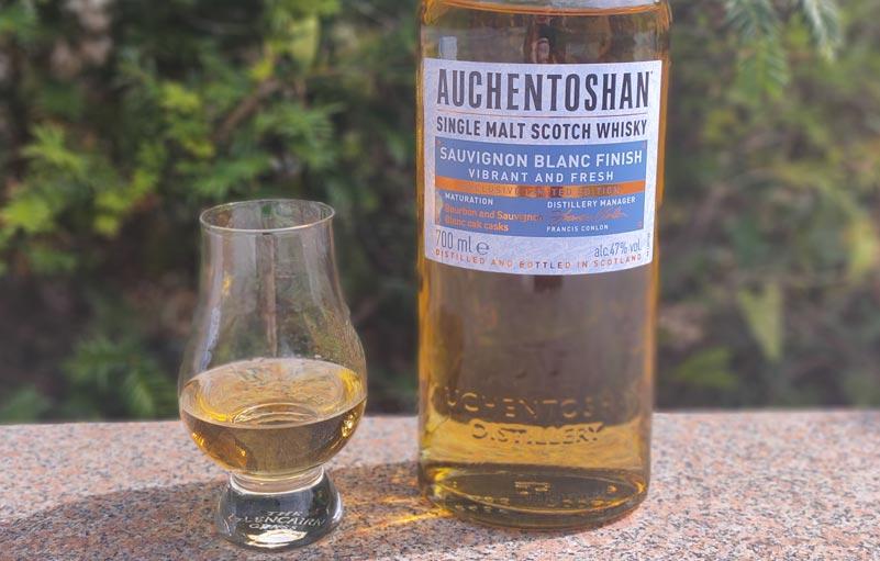 Der Auchentoshan Sauvignon Blanc Finish im Glencairn Glass.