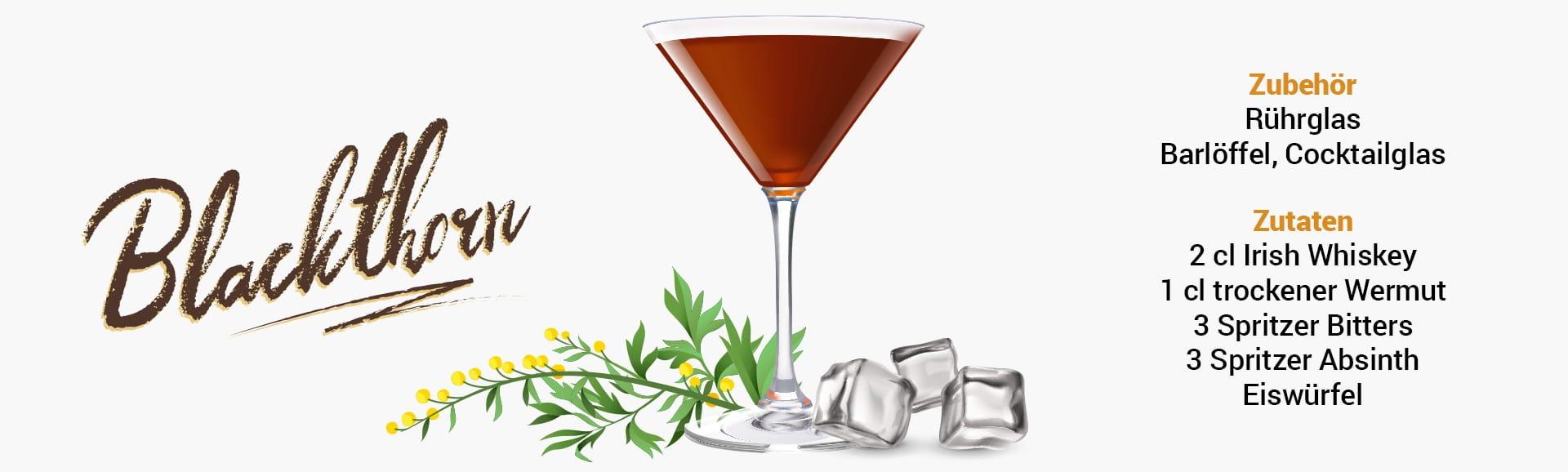Whisky Cocktail: Blackthorn Rezept + Tipp