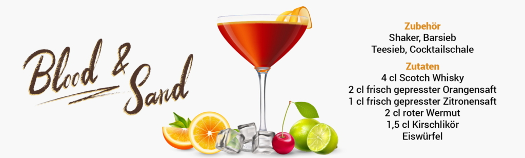 Whisky Cocktail: Blood & Sand Rezept + Tipp