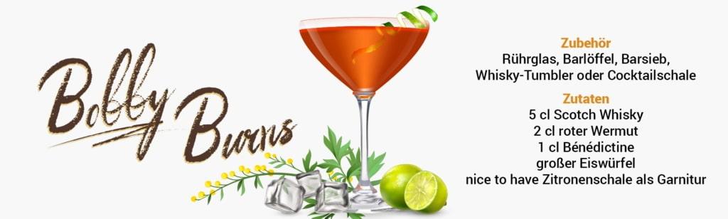 Whisky Cocktail: Bobby Burns Rezept + Tipp