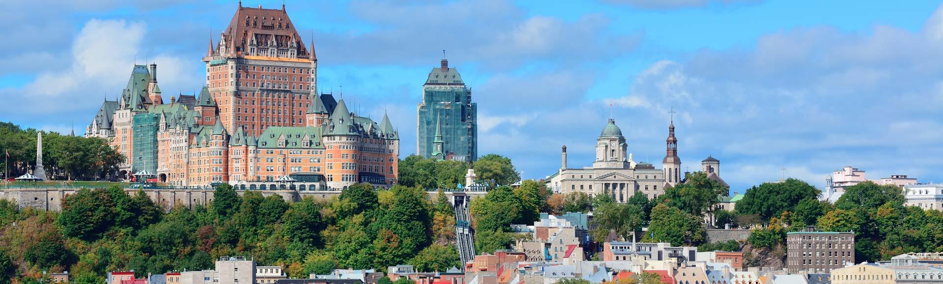 Skyline von Quebec, Kanada.
