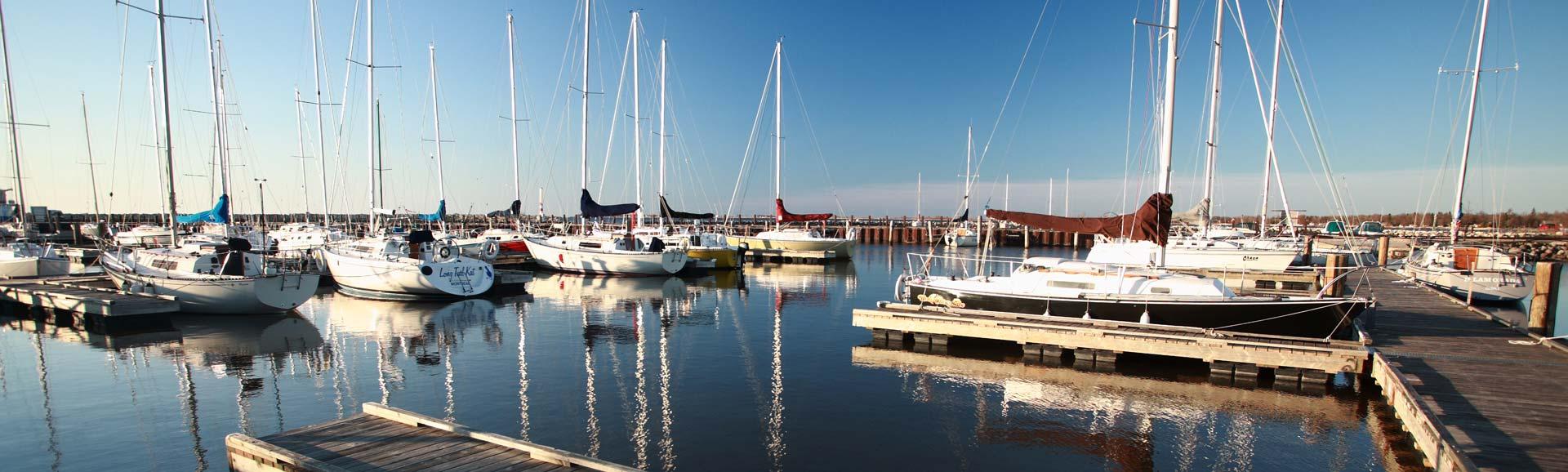 Yachthafen von Gimli, Kanada.
