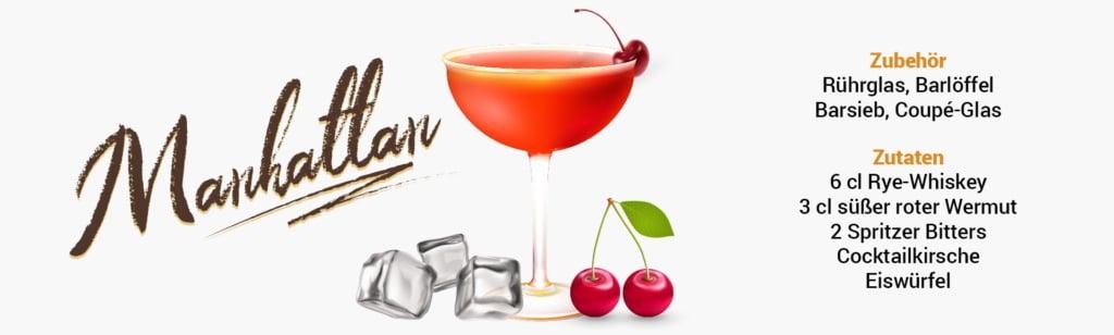 Whisky Cocktail: Manhattan Rezept + Tipp