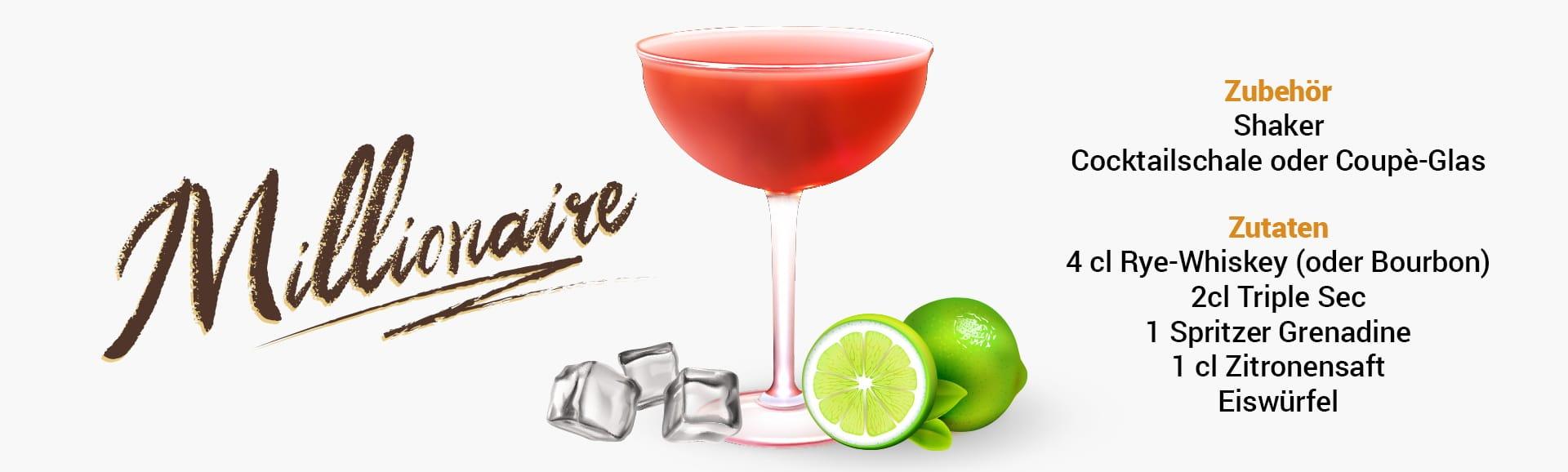 Whisky Cocktail: Millionaire Rezept + Tipp