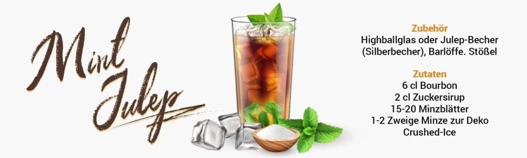 Whisky Cocktail: Mint Julep Rezept + Tipp