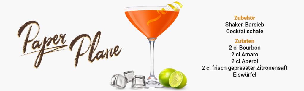 Whisky Cocktail: Paper Plane Rezept + Tipp