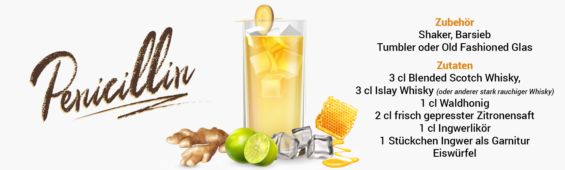 Whisky Cocktail: Penicillin Rezept + Tipp