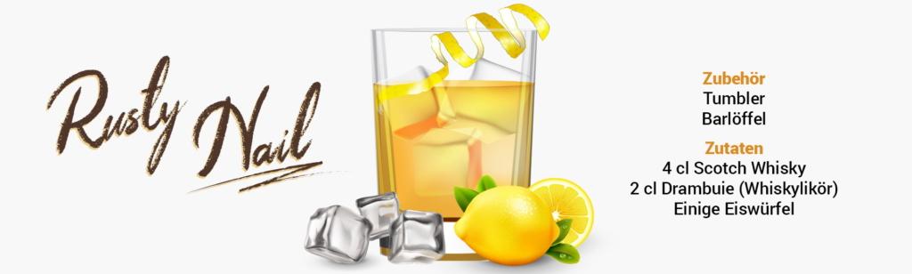 Whisky Cocktail: Rusty Nail Rezept + Tipp