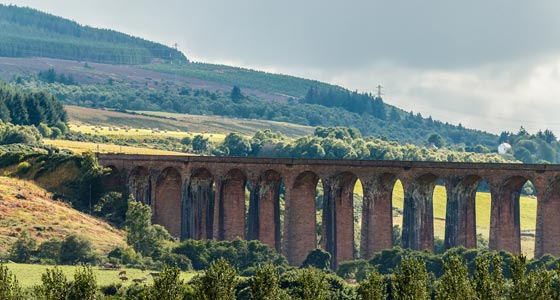 Das Culloden Viaduct, Highlands.