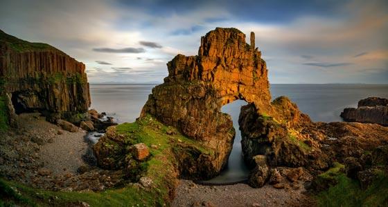 Die wunderschönen Carsaig-Bögen auf der Isle of Mull.