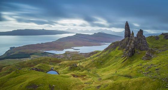 Der alte Mann Storr auf der Isle of Skye.