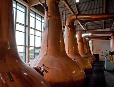 Aktive Destille.