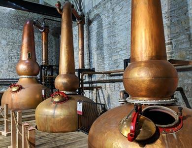 Stills zur Herstellung von Bourbon in Kentucky.