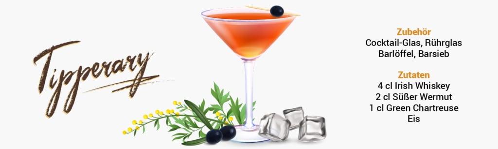 Whisky Cocktail: Tipperary Rezept + Tipp