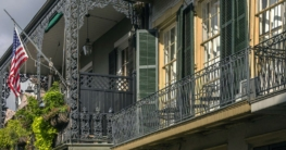Historische Gebäude im französischen Viertel, USA.