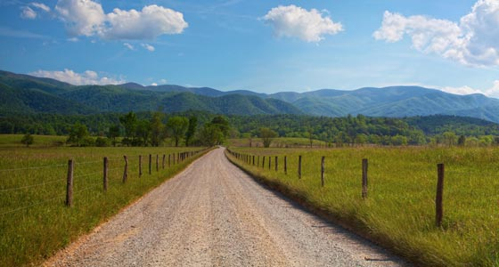 Panorama-Aufnahme aus Tennessee, USA.