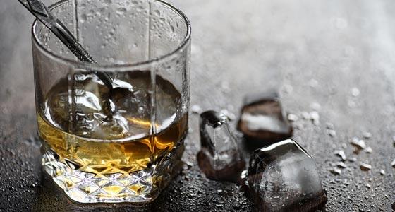 Whisky und Eis.