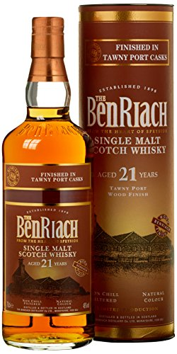 Benriach 21 Years Old Tawny Port Wood Finish Limited Edition Whisky mit Geschenkverpackung (1 x 0.7 l) - 1