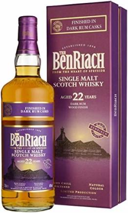 Benriach 22 Years Old Dark Rum Wood Finish mit Geschenkverpackung Whisky (1 x 0.7 l) - 1