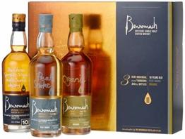 Benromach Trio Whisky Geschenk in Geschenkpackung 10 Years, Organic, Peat Smoke (3 x 0.2 l) - 1