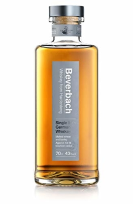 Beverbach Single Malt German Whiskey, Deutscher Single Malt Whisky 43% vol., 3-4 Jahre im Eichenfass gelagert (1 x 0.7 l) - 1