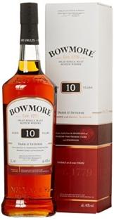 Bowmore 10 Years Old Dark & Intense Whisky mit Geschenkverpackung (1 x 1 l) - 1