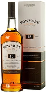 Bowmore 15 Years Old Golden & Elegant Whisky mit Geschenkverpackung (1 x 1 l) - 1