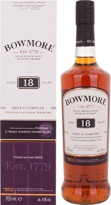 Bowmore 18 Years Old Deep & Complex Whisky mit Geschenkverpackung (1 x 0.7 l) - 1