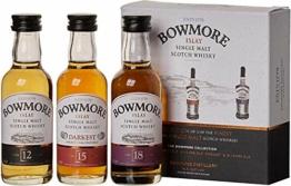 Bowmore Whisky Geschenkset Mit 12 Jahre, 15 Jahre und 18 Jahre, 3 x 0,05l, (3er Pack) - 1