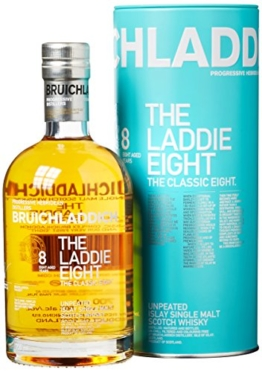 Bruichladdich The Laddie Eight 8 Years Old Whisky mit Geschenkverpackung (1 x 0.7 l) - 1