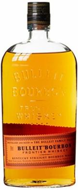 Bulleit Bourbon Frontier Whiskey, High Rye Whiskey gebrannt und gereift nach der Kentucky Tradition, 1 x 0,7l - 1