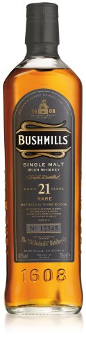 Bushmills 21 Jahre Single Malt Irish Whiskey 40% 0,7l Whisky Flasche - 1