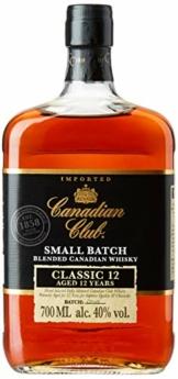 Canadian Club 12 Jahre Blended Canadian Whisky, lang anhaltender Geschmack mit ausbalancierten und sanften Aromen, 40% Vol, 1 x 0.7l - 1