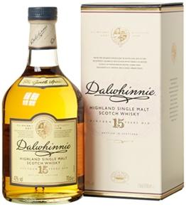 Dalwhinnie Highland Single Malt Scotch Whisky – 15 Jahre gereift – Aromen von Heidekraut und Honig – 1 x 0,7l - 1
