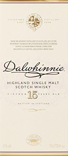 Dalwhinnie Highland Single Malt Scotch Whisky – 15 Jahre gereift – Aromen von Heidekraut und Honig – 1 x 0,7l - 4
