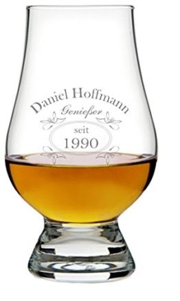 EIN Original The Glencairn Glass, Glas mit Whiskey Design inkl. Wunschgravur Gravur Wunschtext - 1