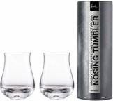 Eisch Whisky Nosing Tumbler 128/8 2 Stück in Geschenkröhre Gratis 1 Glasreinigungstuch - 1