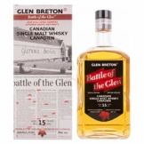 Glen Breton Battle of the Glen 15 Years Old Canadian Single Malt Whisky 43,00% 0,70 Liter - 1