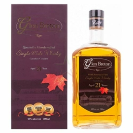 Glen Breton Rare 21 Years Old Canada's First Single Malt Whisky 43,00% 0,70 Liter - 1