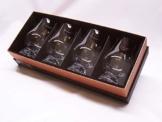 Glencairn Whisky Tasting Nosing Glass in Schwarz / Gold Präsentationsbox - 4 Stück - 1