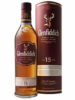 Glenfiddich Single Malt Scotch Whisky 15 Jahre Solera – der am häufigsten ausgezeichnete Single Malt Scotch Whisky der Welt, 1 x 0,7 l, 40% Vol. - 1