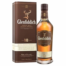 Glenfiddich Single Malt Scotch Whisky 18 Jahre - kleine Spezial-Auflage des meistverkauften Malt Scotch Whisky der Welt mit Geschenkverpackung, 1 x 0,7l, 40% Vol. - 1
