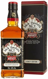 Jack Daniel's Legacy Edition 1905 - No 2 - limititierte Sonderedition in der Geschenkbox - Tennessee Whiskey - 43% Vol. (1 x 0.7l) - 1