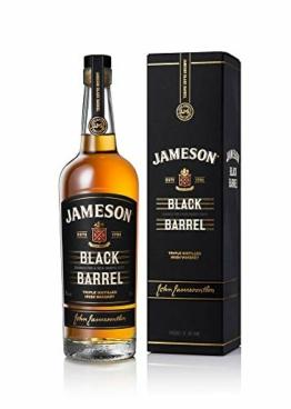 Jameson Black Barrel Irish Whiskey / Blended Irish Whiskey mit Jameson Single Irish Pot Still Whiskeys und seltenem Grain Whiskey / 1 x 0,7 L - 1