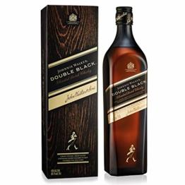 JohnnieWalkerDoubleBlack Label Blended Scotch Whisky – Schottischer Whisky aus den vier Ecken Schottlands direkt ins Glas – In edler Geschenkverpackung – 1 x 0,7l - 1