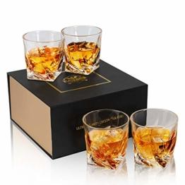 KANARS Whiskey Gläser Set, Bleifrei Kristallgläser, Whisky Glas, Schöne Geschenk Box, 4-teiliges, 300ml, Hochwertig - 1