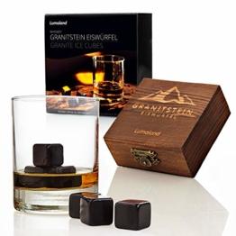 Lumaland Whiskysteine aus Granit im 6er Set inklusive Holzbox und Aufbewahrungsbeutel - 1