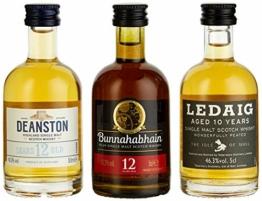 Miniaturenset Single Malts – Eine Schottische Whiskyreise – Bunnahabhain, Deanston und Ledaig (3 x 0.05 l) - 1