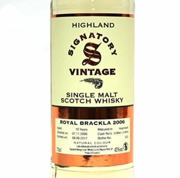 Royal Brackla 2007-10 Jahre - Signatory Vintage - Single Malt Whisky - 2