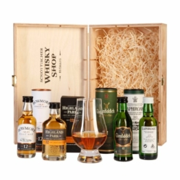 Schottischer Whisky Shop Whisky Genießer Set (4 x 0.05 l) + 1 x Glencairn Whiskyglas - 1